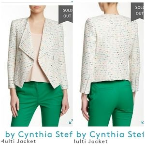 CeCe by Cynthia Steffe White Tweed Blazer